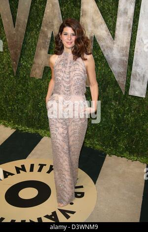 Actress Marisa Tomei arrives at the Vanity Fair Oscar Party at Sunset Tower in West Hollywood, Los Angeles, USA, - Stock Photo