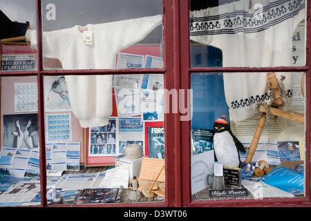 The Falkland Islands Agency shop, Falkland House, Wells, Somerset, England - Stock Photo