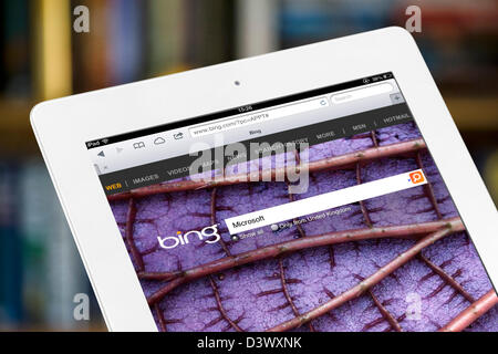 Bing search viewed on a 4th generation iPad - Stock Photo