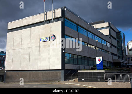 Police Station. Greater Manchester Police, Rochdale Divisional Headquarters, Rochdale, Greater Manchester, England, - Stock Photo