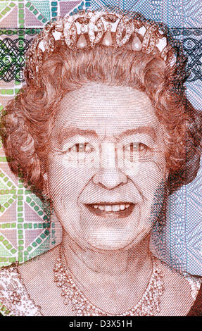 Elizabeth II (born 1926) on 5 Dollars 2011 Banknote from Fiji. Queen of the United Kingdom. - Stock Photo
