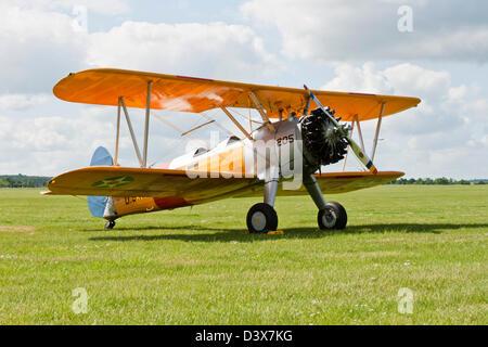 Boeing Stearman biplane - Stock Photo