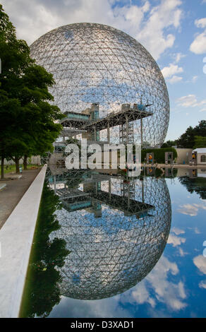 The Biosphère is a museum in Montreal dedicated to the environment. It is located at Parc Jean-Drapeau-World Fair - Stock Photo