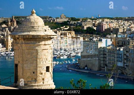 Fort bastion,Grand Harbour,Valletta,Malta. - Stock Photo
