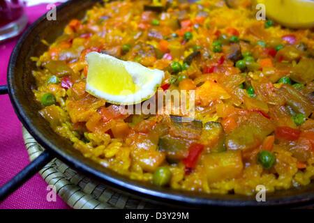 Paella - traditional spanish dish Stock Photo
