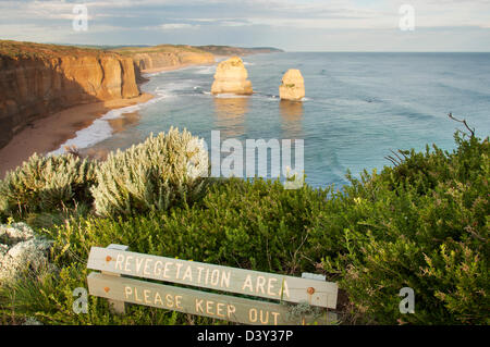 A view of the Twelve Apostles along the Great Ocean Road, Australia - Stock Photo