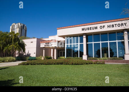 St Petersburg Florida Museum of History on Pier Entrance the home of St Petes archives  exhibits cover the area's - Stock Photo