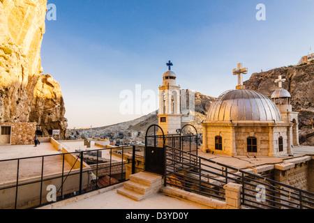 Saint Thecla convent. Maalula, Syria - Stock Photo