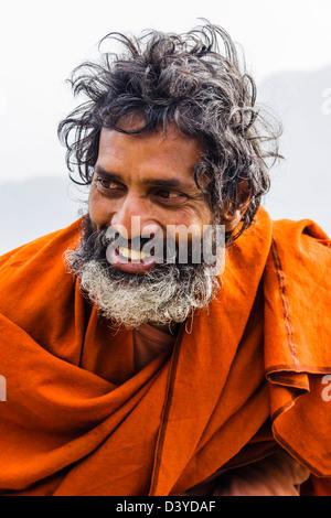 Indian Sadhu portrait - Stock Photo