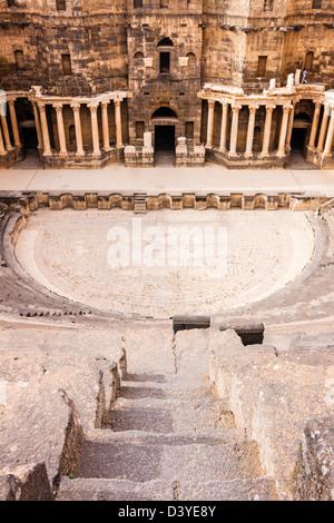 Bosra Theatre and Citadel. - Stock Photo