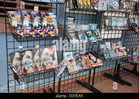 Market stand with propaganda materials, Vinales, Cuba - Stock Photo
