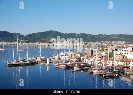 Marmaris harbour Turkey - Stock Photo