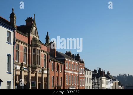 Mill Street, Ludlow, Shropshire, England, Britain - often described as the most beautiful street in England - Stock Photo