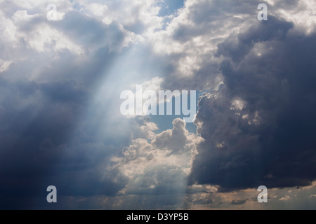 Storm Clouds in Sky, Texas, USA - Stock Photo