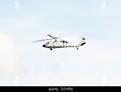 US Navy Sikorsky MH-60S Seahawk Helicopter of HSC-3 Squadron in Flight Over San Diego California United States America USA