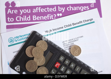 High Income Child Benefit Charge Form Stock Photo Royalty Free