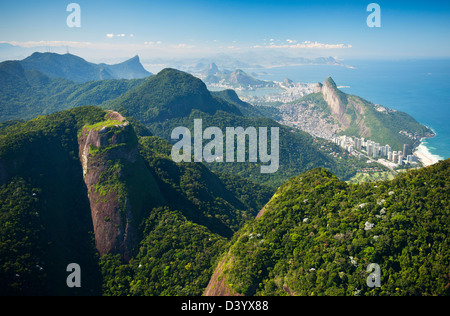 Aerial View of Atlantic Forest above Rio de Janeiro, Brazil - Stock Photo