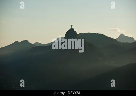 Christ the Redeemer on Corcovado Mountain, Rio de Janeiro, Brazil - Stock Photo