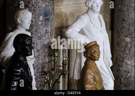Feb. 27, 2013 - Washington, District of Columbia, U.S. - A Statue honoring the late civil rights activist Rosa Parks - Stock Photo