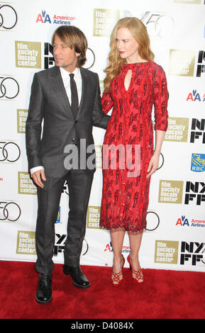 Oct. 4, 2012 - New York, NY, U.S.A - Nicole Kidman with Keith Urban at the Nicole Kidman Gala Tribute at the 50th - Stock Photo