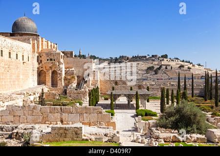 City wall of Jerusalem - Stock Photo