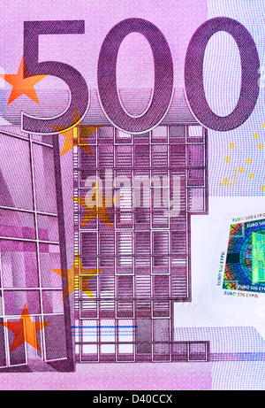 500 Euro banknote, Modern architecture, 2002 - Stock Photo