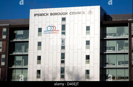 Administrative headquarters building for borough council, Ipswich, Suffolk, England - Stock Photo