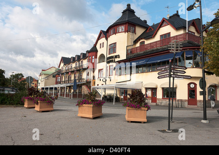 Waxholms Hotel. Vaxholm  Stockholm. Sweden.Built in 1902 - Stock Photo