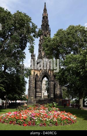 The Sir Walter Scott Monument in East Princes Street Gardens in Edinburgh city centre, Scotland, UK - Stock Photo