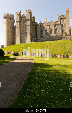 Arundel Castle, West Sussex, England UK in the early evening - Stock Photo