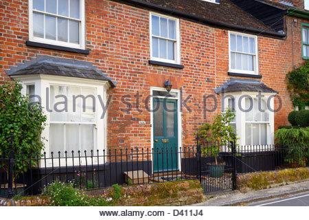 House front, Sturminster Newton, Dorset England UK - Stock Photo