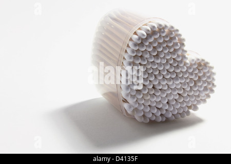 Box of Cotton Buds - Stock Photo