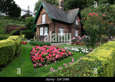 The Park Rangers Cottage in West Princes Street Gardens, Edinburgh city centre, Scotland, UK - Stock Photo