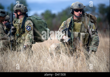 US Green Beret Special Forces soldiers during a training event February 5, 2013 at Eglin Base Air Force Base, Florida. - Stock Photo