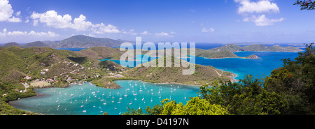 Coral Bay and East End panorama, St. John, USVI - Stock Photo