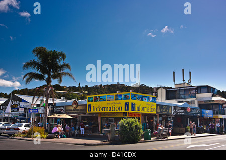Town of Paihia in the Bay of Islands, Northland, East Coast, North Island, New Zealand. - Stock Photo