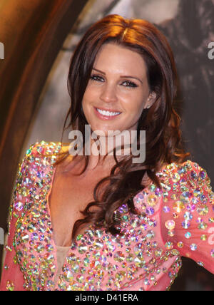London, UK. 28th February 2013. Danielle Lloyd at the European Premiere of  'Oz the Great and Powerful' at the Empire - Stock Photo