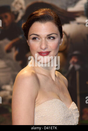 London, UK. 28th February 2013. Rachel Weisz at the European Premiere of  'Oz the Great and Powerful' at the Empire - Stock Photo