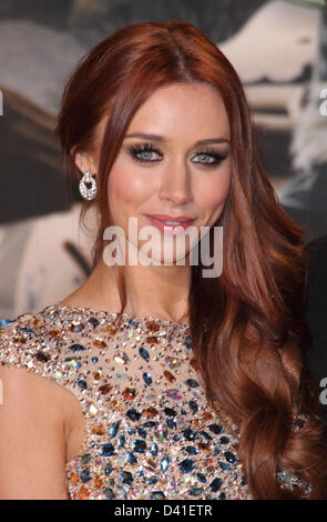 London, UK. 28th February 2013. Una Healy at the European Premiere of  'Oz the Great and Powerful' at the Empire - Stock Photo