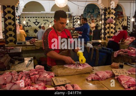 Fish Market, Sousse, Tunisia - Stock Photo