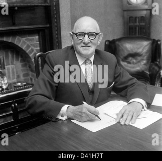 James Marshall the chairman of Wolverhampton Wanderers Football Club 1962 - Stock Photo