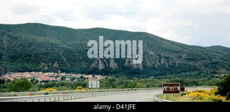 Asphalt road in mountain France - Stock Photo