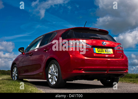 Lexus CT 200h hatchback, hybrid electric car, Winchester, UK, 13 05 2010 - Stock Photo