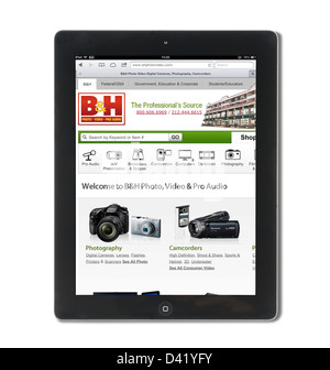 The online store of B&H Photo and Video ( BHPhotoVideo.com ) viewed on an iPad 4, USA Stock Photo