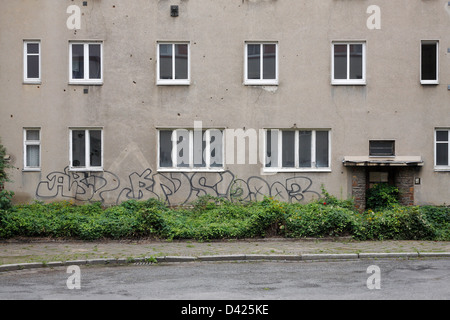 Leipzig, Germany, empty house in the New Building-settlement - Stock Photo