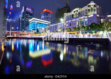 Modern buildings in Taipei, Taiwan. - Stock Photo