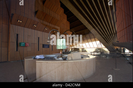 Sydney, Australia, a waiting area of   the Opera House by Joern Utzon - Stock Photo