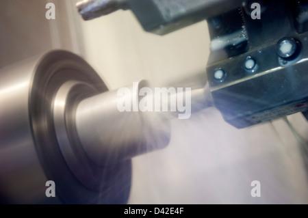 CNC Lathe Machine - Stock Photo