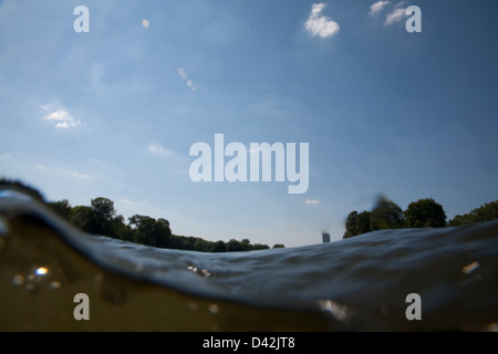 Berlin, Germany, the waves of the river Spree - Stock Photo