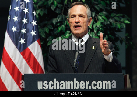 US Customs and Border Protection Commissioner Alan Bersin Speaks at the US Chamber of Commerce - Stock Photo
